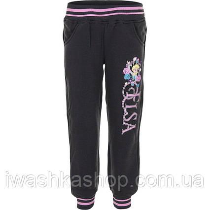 Темно - серые утепленные спортивные штаны - джоггеры Frozen на девочку 8 лет, р. 128, Disney / Frozen