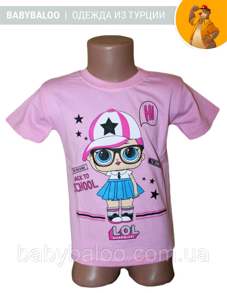 """Модная детская футболка """"LOL""""в кепке( от 4 до 8 лет)"""