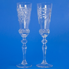 Свадебные хрустальные бокалы №1 (без ободка)