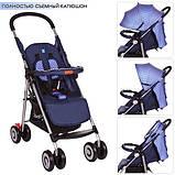 Дитяча прогулянкова коляска BAMBI M 3456-1 книжка (блакитна), фото 2