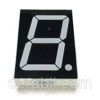 FJS18101BH семисегментный светодиодный индикатор 1 разряд 1,8', красный, общ. анод.