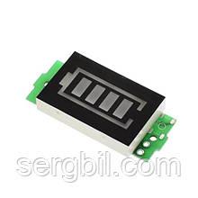 AiLi228-2s LED индикатор заряда/разряда Li-ion аккумуляторов 8.4V, синий