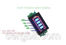 AiLi228-4s LED индикатор заряда/разряда Li-ion аккумуляторов 16.8V, синий