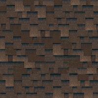 Битумная черепица Shinglas Кадриль Аккорд коричневый