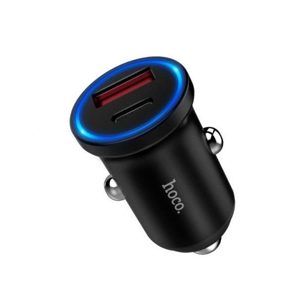 Автомобильное зарядное устройство Hoco Z20A Surpassing PD 2USB/2A/QC3.0