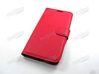 Кожаный чехол книжка Xiaomi MI Play (красный)