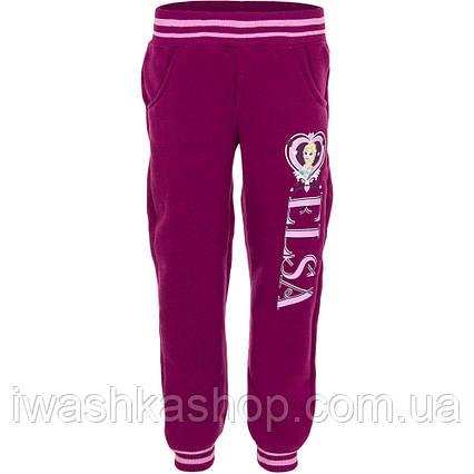 Розовые утепленные спортивные штаны - джоггеры Frozen на девочку 5 лет, р. 108, Disney / Frozen