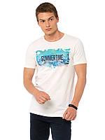 Белая мужская футболка Lc Waikiki / Лс Вайкики с надписью Summertime, фото 1