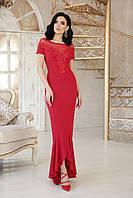 Длинное красное вечернее платье, фото 1