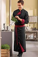 Передник повара, официанта и бармена TEXSTYLE двухсторонний с разрезом без карманов