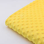 Плюш minky желтого цвета для пошива пледов, игрушек, фото 2