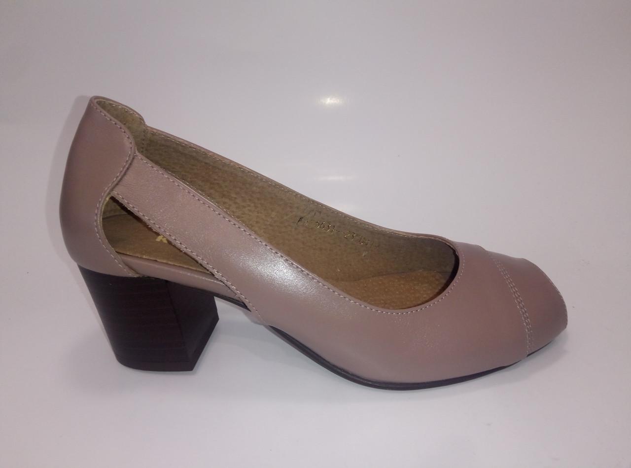 Женские кожаные летние туфли ТМ Камея, фото 1