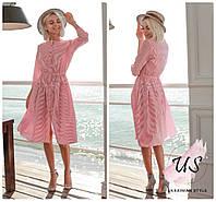 Женское коттоновое летнее платье в полоску. 4 цвета!, фото 1