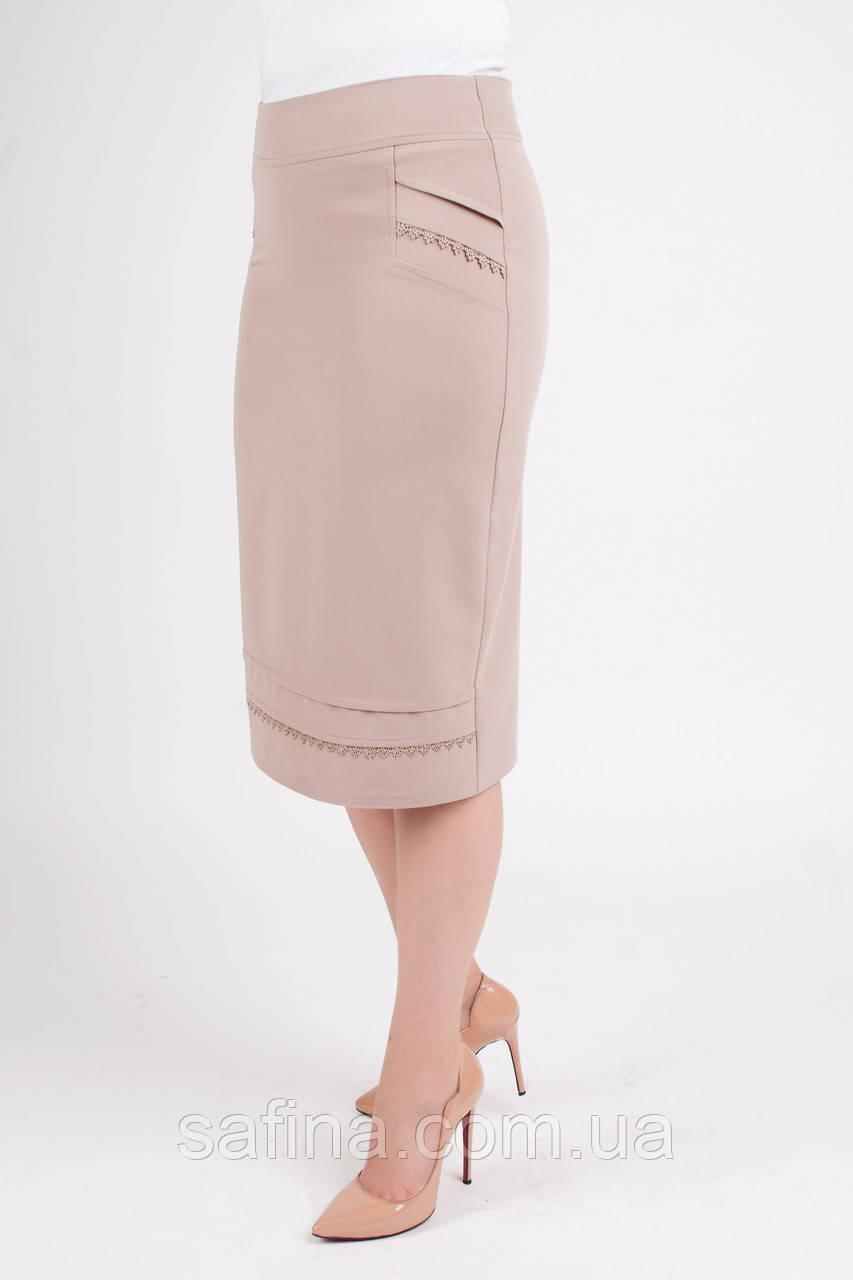 Летняя светлая юбка батал