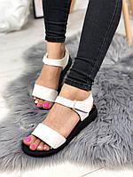 Женские сандалии белые, фото 1