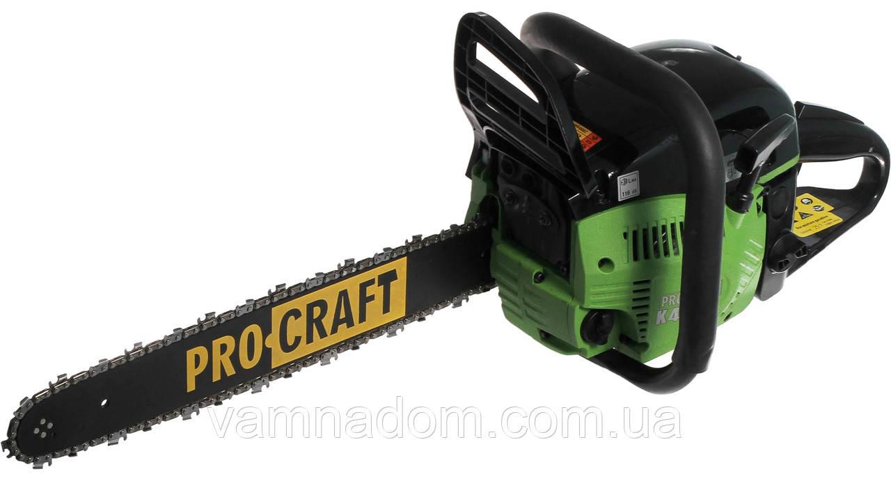 Бензопила ProCraft K450 (2 шины+2 цепи)