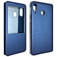 Чехол-книжка DK-Case силикон кожа для Samsung A20/A30 (blue)