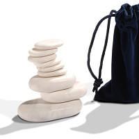 Мраморные камни для стоунтерапии 9 шт