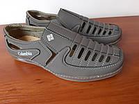 Туфли мужские летние коричневые нубуковые, фото 1