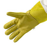Перчатки пчеловода с вентиляцией (кожа+сетка)XXI, фото 3