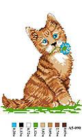 """Набор для вышивки нитками """"Рыжий кот"""". А5-090"""