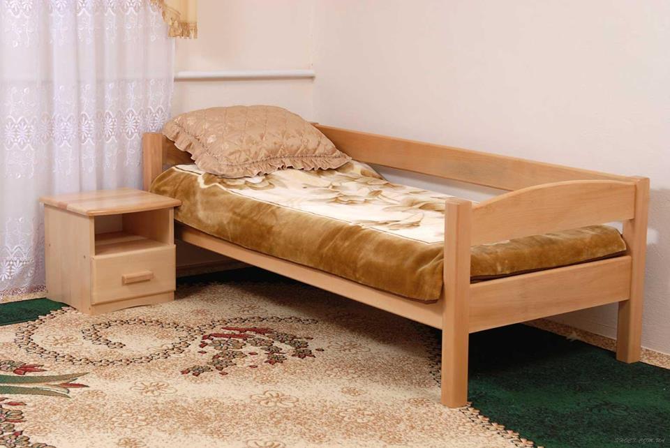 """Детская одноярусная кровать из дерева """"Твайс уни"""""""