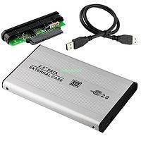 Внешний карман для HDD 2.5 дюймов, USB 2.0 - SATA, TRY TB-S254U2, до 3 TB, алюминий, серебристый