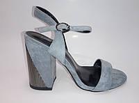 Женские летние босоножки на каблуке, фото 1