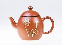 Исинский чайник Лун Дань, с сусальным золотом, 100 мл., фото 1