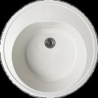 Круглая мойка из гранита Valetti Standart модель №4С белый 49