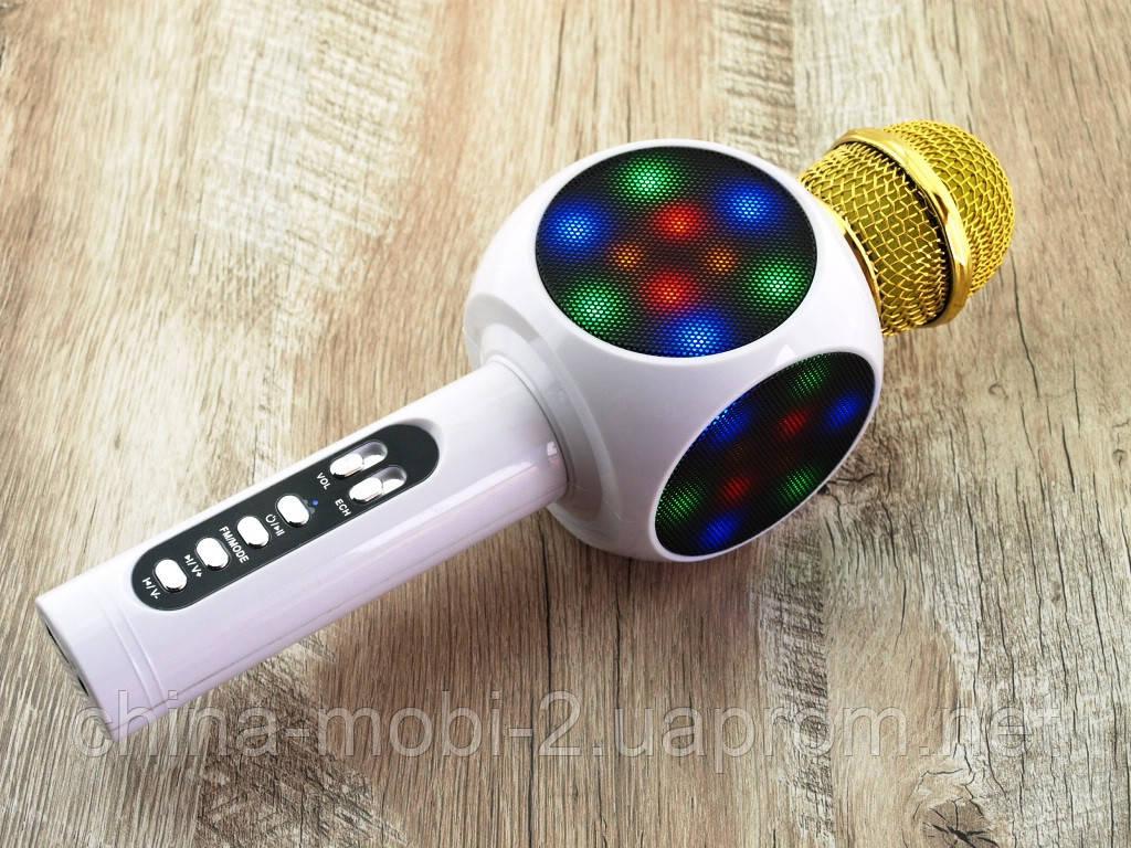 Karaoke L19  WS-1816  LED, L19 блютуз mp3 микрофон с караоке, белый