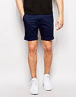 Мужские  молодёжные шорты хлопок , т.синие