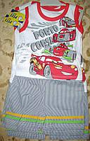 Костюм майка+шорты в полоску коттон для мальчика  86-98