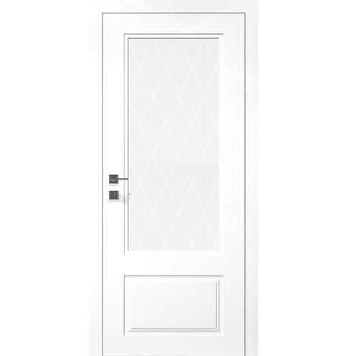 Двери GALANT ПО - полотно+коробка+2 к-кта наличников+добор 77мм, крашенные белый мат, серия CORTES