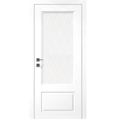 Двери GALANT ПО - полотно+коробка+2 к-кта наличников+добор 77мм, крашенные белый мат, серия CORTES, фото 2