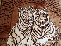 """Двухспальный (евро) плед Elway """"Пара тигров"""""""