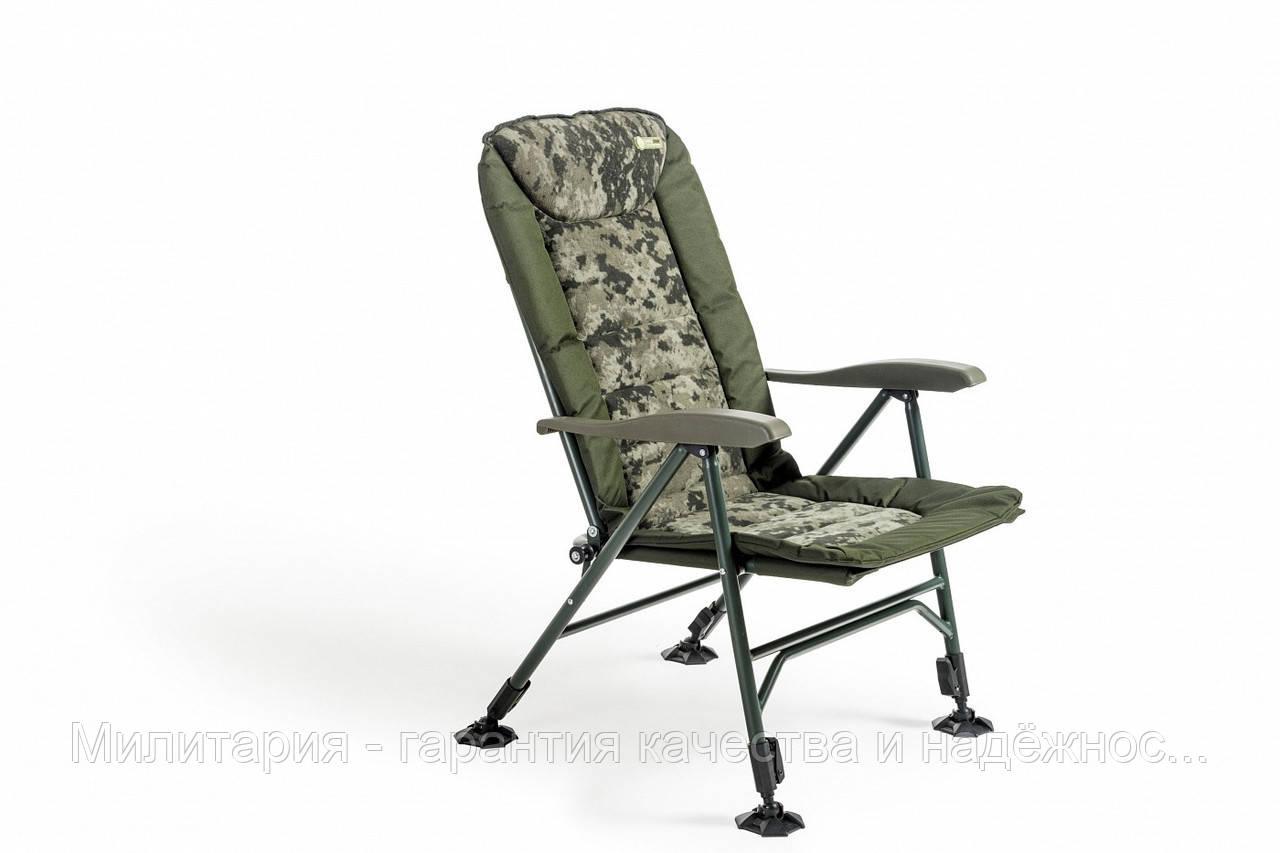 Кресло карповое Mivardi усиненное до 160 кг Chair CamoCODE Чехия (Quattro M-CHCCQ)