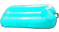 Надувной гамак-ламзак 190*120 см плавательный прорезиненная ткань голубой