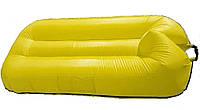 Надувной гамак-ламзак 190*120 см плавательный прорезиненная ткань желтый
