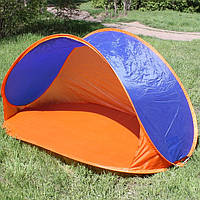 Палатка пляжная самораскладывающаяся каркасная трехместная 180*100