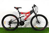 Горный подростковый двухподвесный велосипед Azimut Tornado 24 GD, фото 1