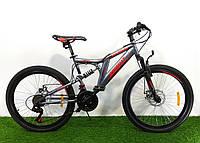 Подростковый двухподвесный велосипед Azimut Blackmount 24 GD, фото 1