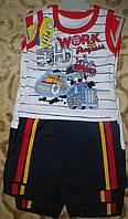 "Костюм майка+шорты  коттон ""грузовики""для мальчика  86-98"