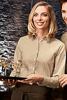 Блуза официанта, бариста TEXSTYLE женская длинный рукав бежевая