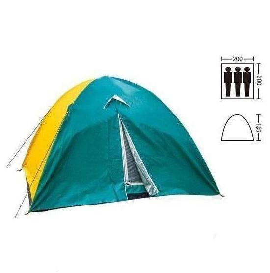 Палатка трехместная с тентом SY-029