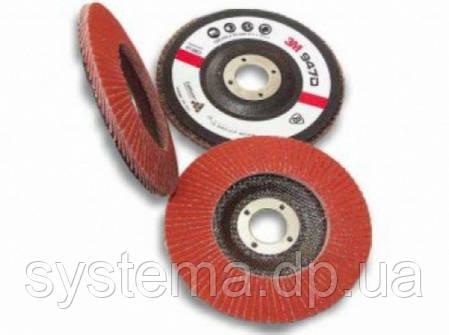 3M™ 65054 CUBITRON II - Лепестковый круг 967A 125х22 мм, P40, конический, фото 2