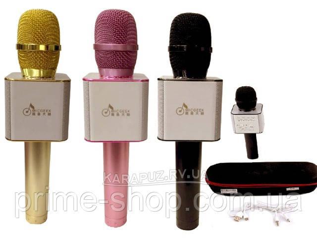Микрофон-караоке беспроводной Bluetooth MicGeek Q9 Karaoke с чехлом