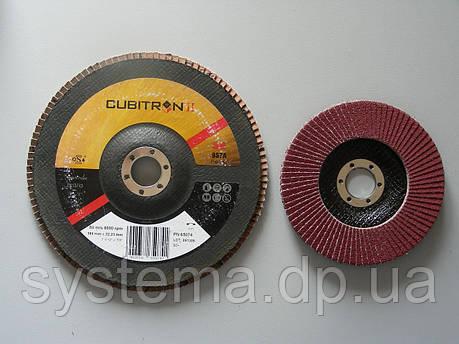 3M™ 65055 CUBITRON II - Лепестковый круг 967A 125х22 мм, P60, конический, фото 2