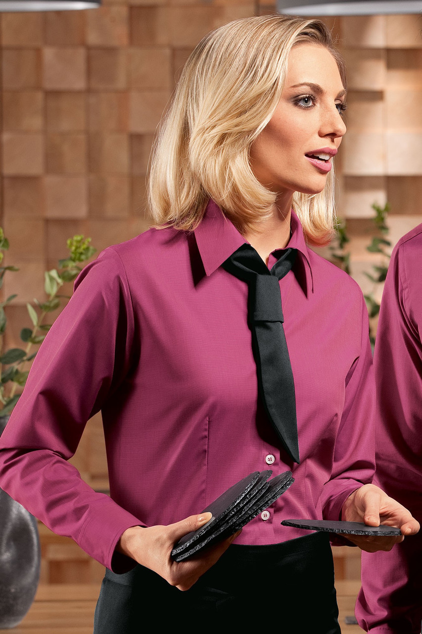 Блуза официантская женская TEXSTYLE бордовая
