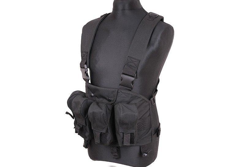 Жилет тактический (разгрузочный) типа Chest Rigg - black [GFC Tactical] (для страйкбола)
